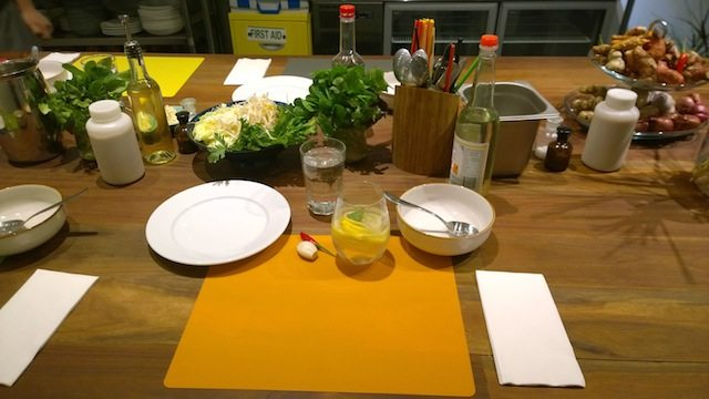 OTAO Kitchen Vietnamese Cooking Class set up