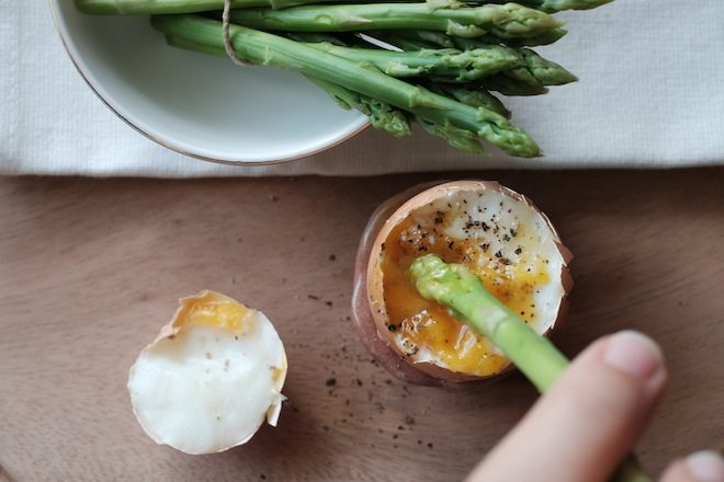 Asparagus recipes dipping in landscape