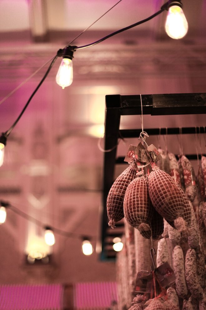 Melbourne Salami Festa 2015 salami and lights