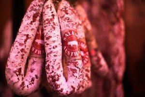 Melbourne Salami Festa 2015 salami hanging red