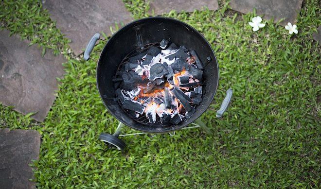 Thai BBQ Pork recipe coals overhead