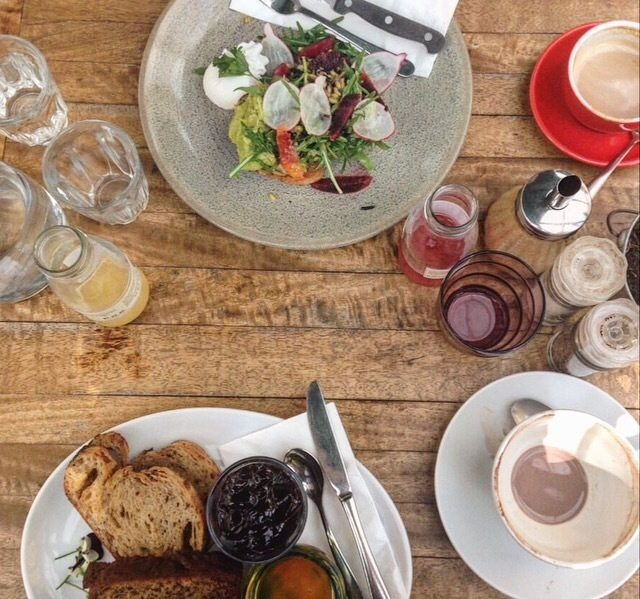 Daylesford & Macedon Ranges Food Mini Guide Wombat Hill Cafe birds eye view