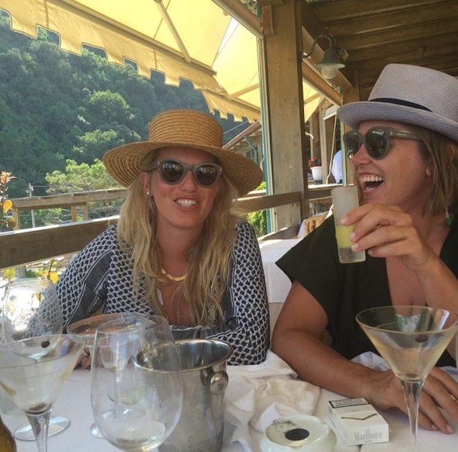 Foodie Profile The Folk Family Saskia and Lucy Folk on holiday