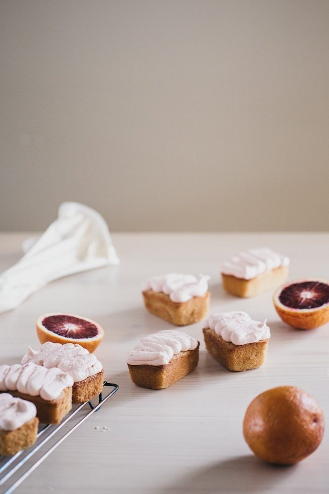 Buying your first Piping Bag Set Blood Orange Mini Loaf Cakes