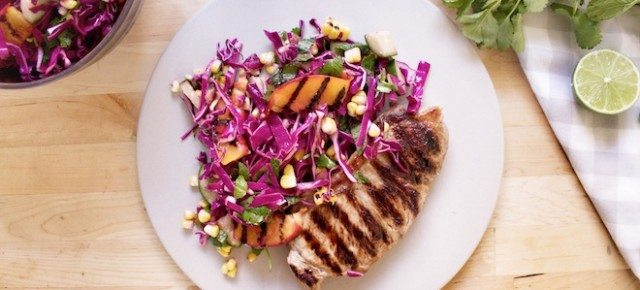 Home Chefs #11 - Char-grilled Corn and Peach Slaw