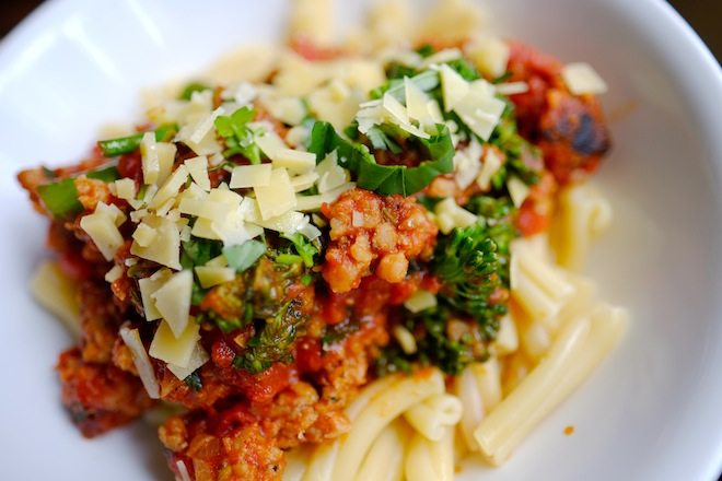 Tucker Street Casereccia pasta with pork and fennel sausage and broccolini