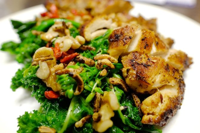 Tucker Street MJR Tom's superfood salad with secret spice chicken