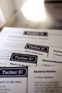 Tucker Street recipe cards