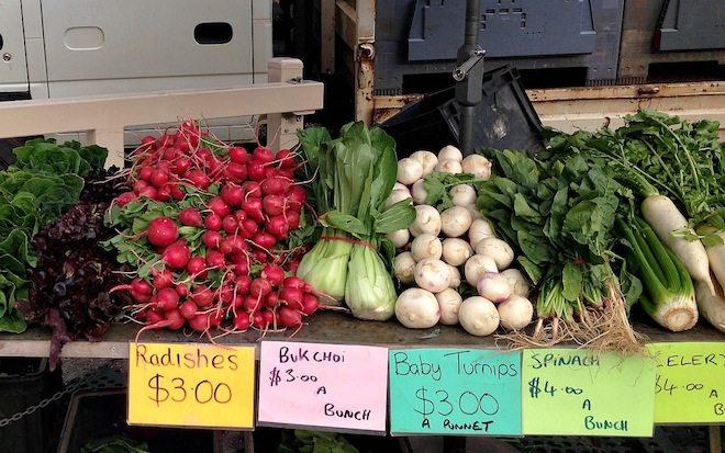 Gasworks Arts Park Farmers Market veggies