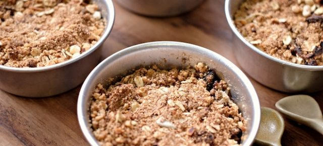 Hazelnut and Apple Crumble