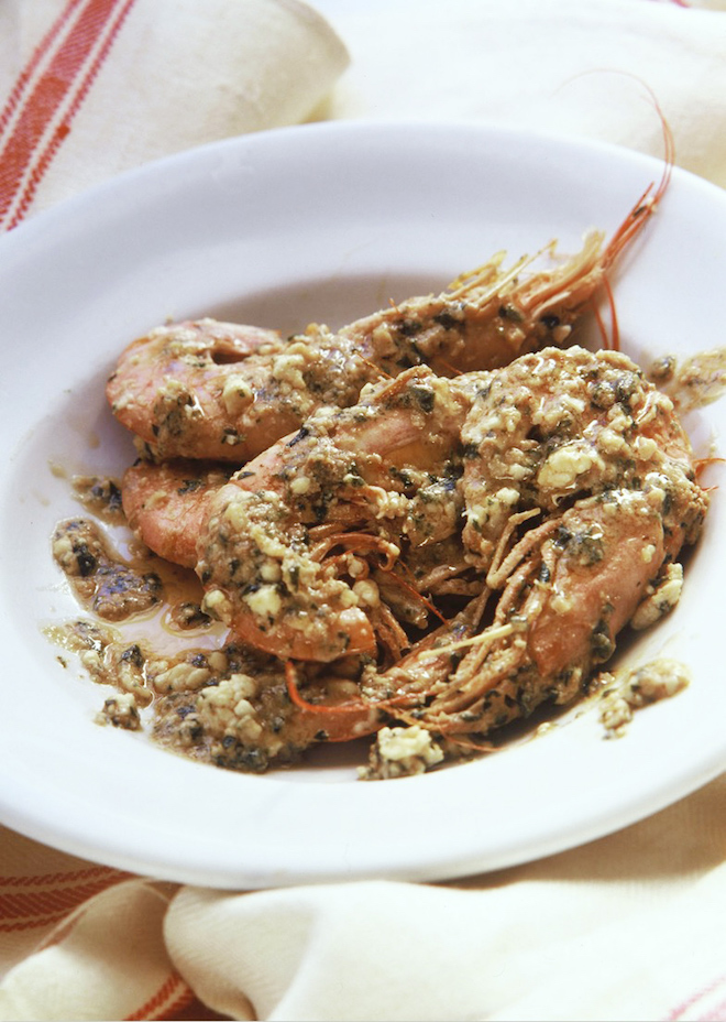 Prawns with Feta by Tessa Kiros