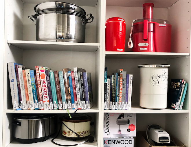 Carlton Kitchen Library shelves landscape site