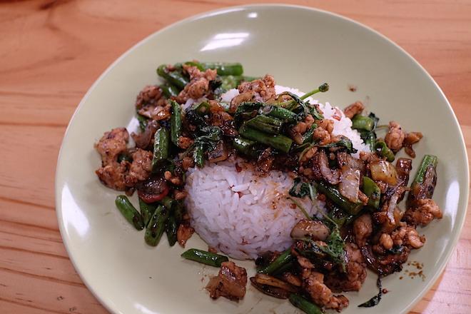 Chiang Mai Thai Farm Cooking School Chicken with Basil