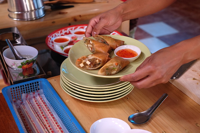 Chiang Mai Thai Farm Cooking School Spring Rolls
