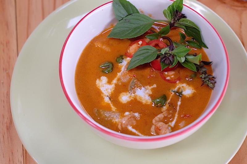 Chiang Mai Thai Farm Cooking School Tom Yam with Shrimps