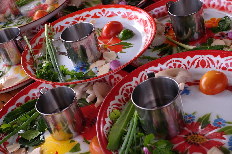 Chiang Mai Thai Farm Cooking School plates