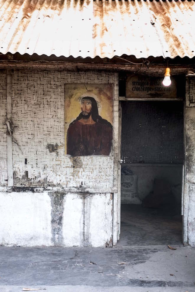 Sumba in Pictures Jesus image on door