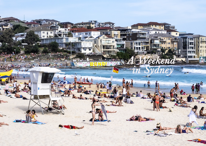 A Weekend in Sydney bondi cover