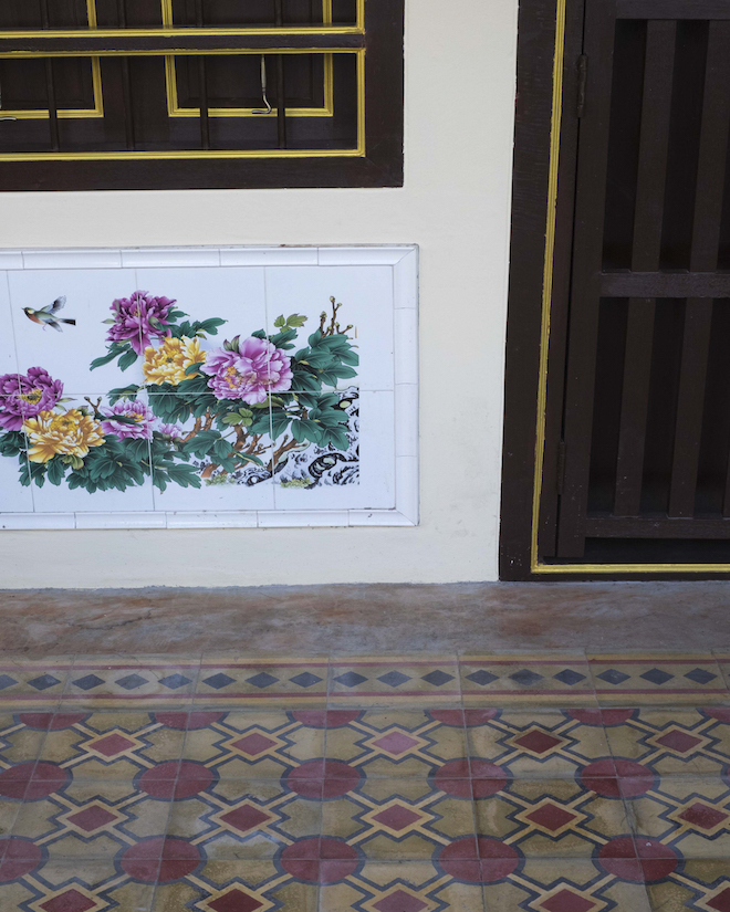 Phuket Old Town tiles and flowers copy