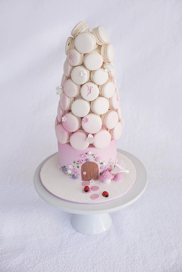 Sweets for Tilly Pink Macaron Fairy Cake Photo by Jacqui Henshaw Photographer