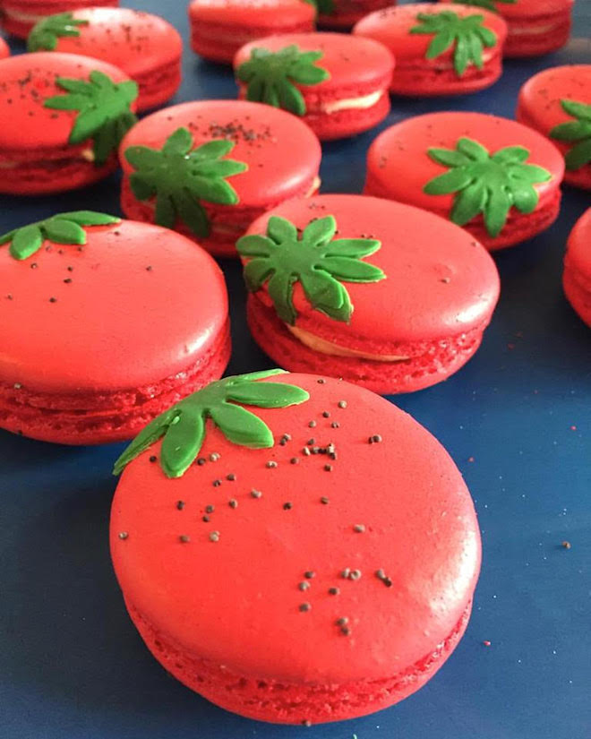 Sweets for Tilly trawberry and Cream Macarons by SFT