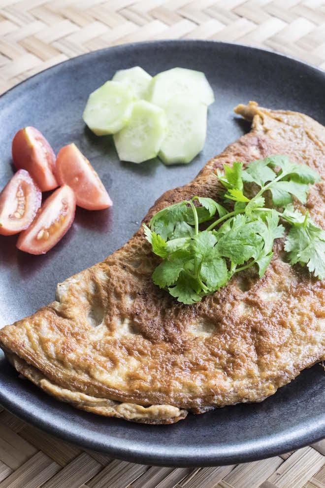Thai Omelette Khai Jiow portrait