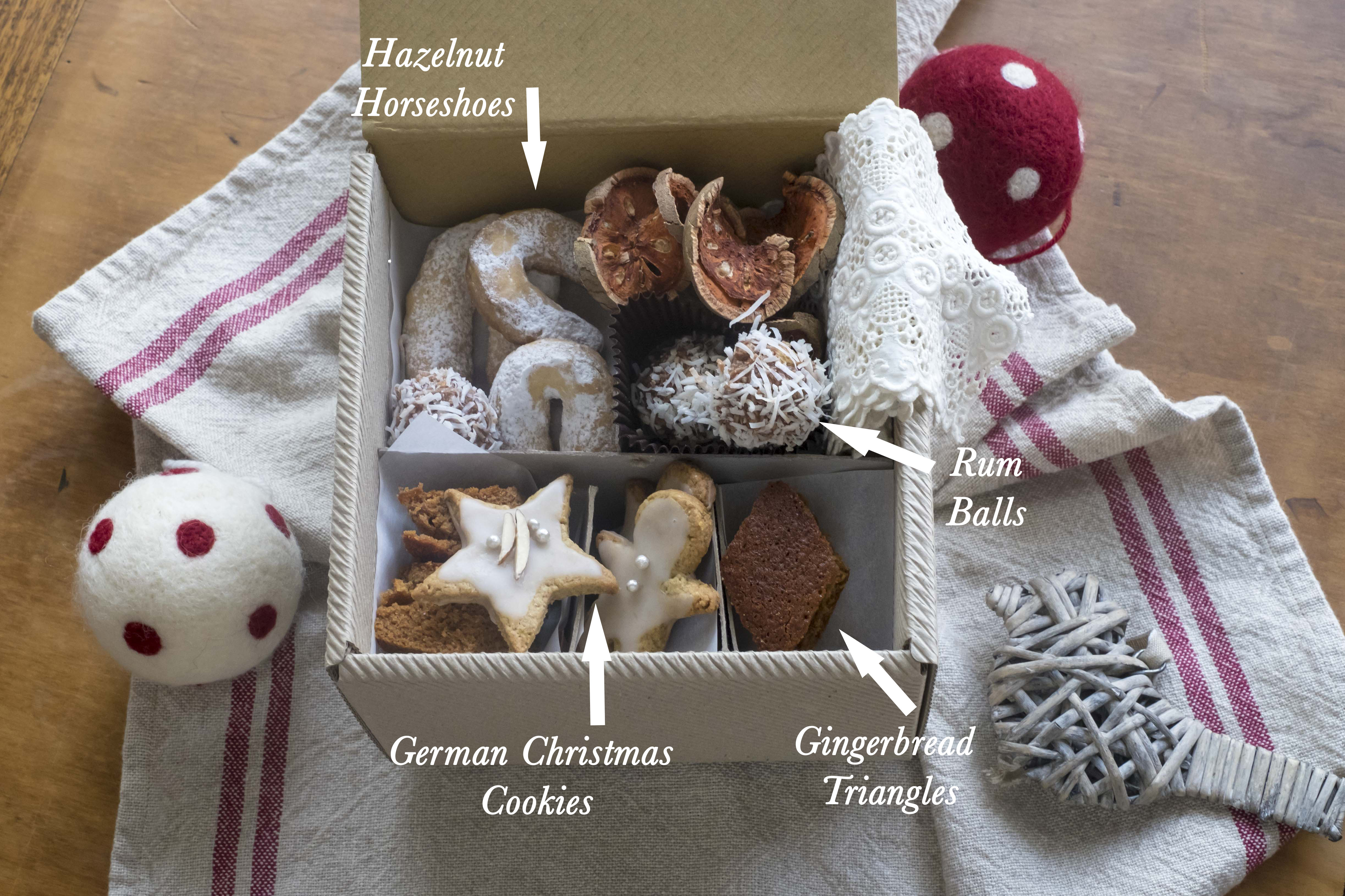Making Your Own Christmas Cookie Box Inside