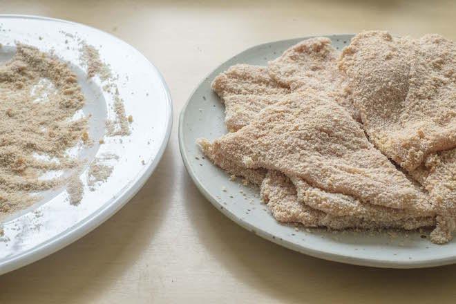 Paprika Schnitzel crumbed plates landscape ws