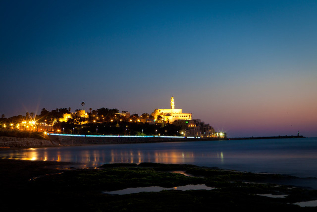 Jaffa Panorama at Night by Dana Friedlander