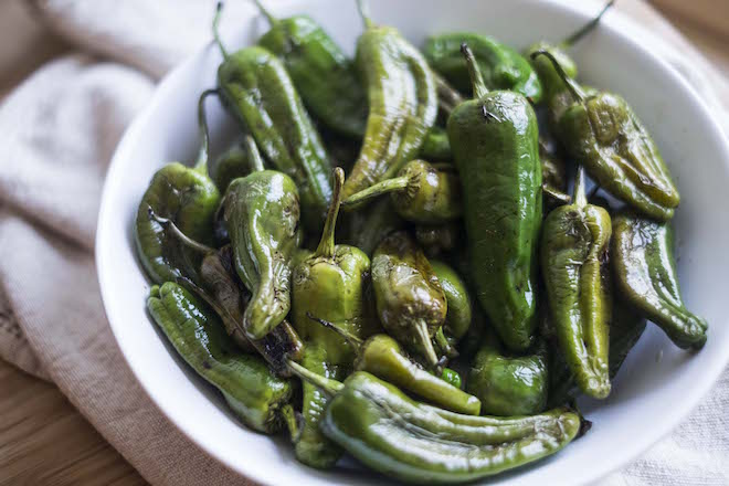 Blistered Balsamic Padrón Peppers website cover
