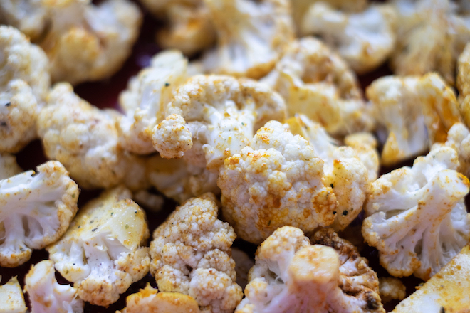 Roasted Cauliflower Salad Recipe raw site