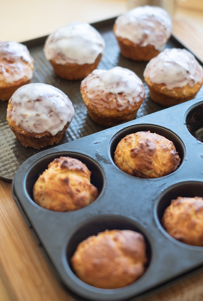 Easter Bread recipe baked buns half iced site