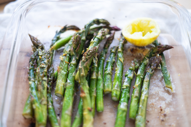 Baked asparagus with lemon recipe cover site