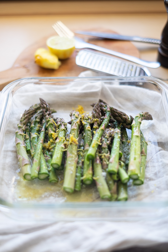 Baked asparagus with lemon recipe website