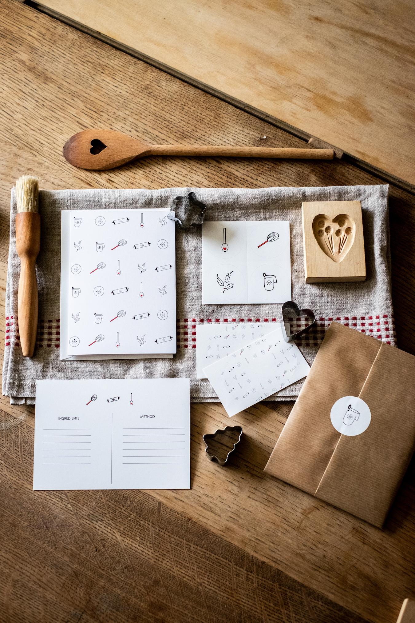 Festive Baking Stationery Set with wrap 2 copy