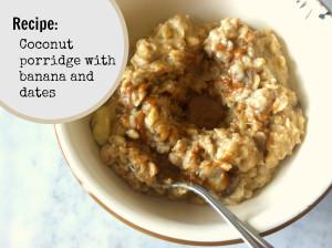 Coconut Porridge with nut butter social media