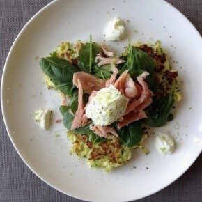 Recipe: Zucchini Fritters with Smoked Trout