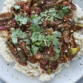 Eggplant and Tomato Braise