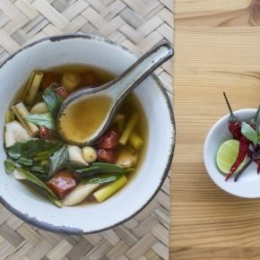 Tom Yam Soup with Mushrooms