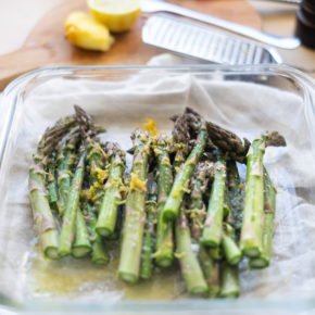 Baked asparagus with lemon recipe